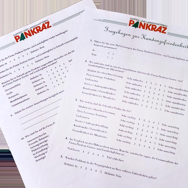 Fragebogen-Kundenzufriedenheitsanalyse